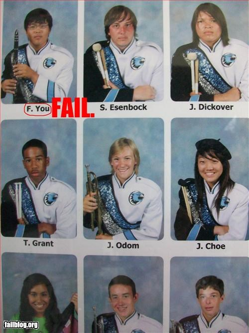 band fck name uniform yearbook