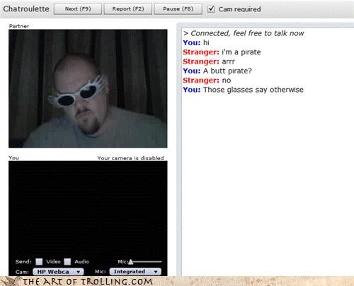 blank screen Chat Roulette glasses pirates - 3293662720
