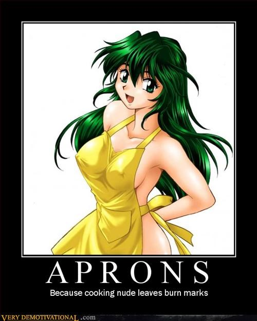 anime aprons au natural boobs cooking demotivational hilarious truth