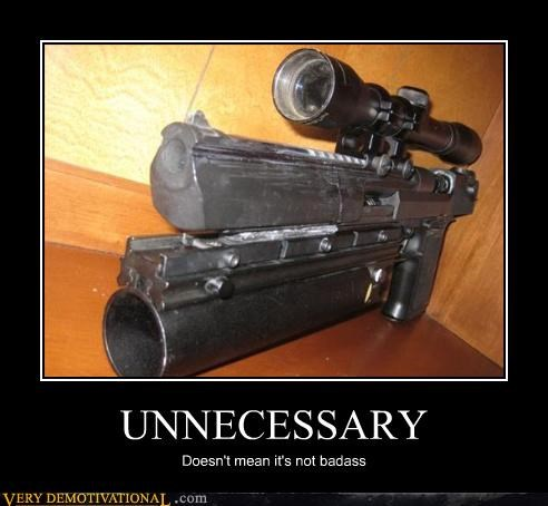 2nd ammendment,awesome,demotivational,guns,Pure Awesome,unnecessary