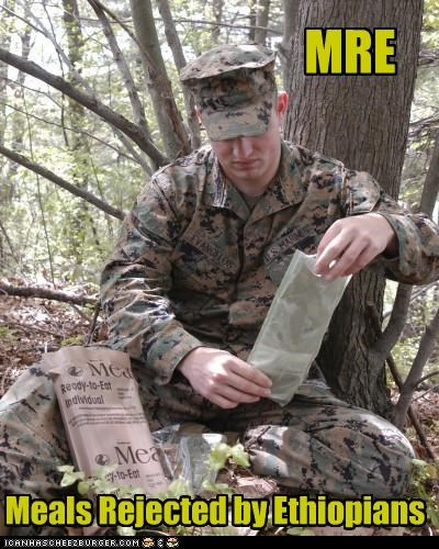 food marines military MRE rations soldiers