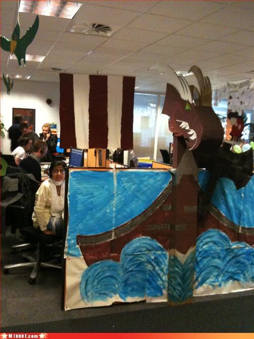 art arts and crafts awesome boredom burn some villages to the ground clever creativity in the workplace cubicle boredom ergonomics ingenuity osha sack the neighboring cubes sail boat time to rape and pillage vikings - 3294269184
