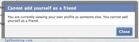 error,Facebook message,friend request,oh snap