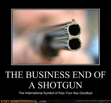 demotivational Pure Awesome shotgun Terrifying - 3295209984