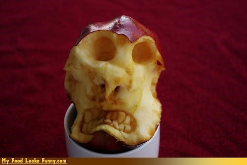 apple,decomposing,face,fruit,skeleton