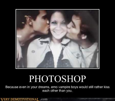demotivational,emo,gay,hilarious,idiots,photoshop,twilight
