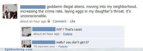 Aliens oh snap racist really - 3296347648