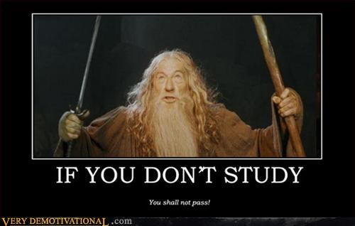 demotivational gandalf Lord of the Rings Pure Awesome school study - 3296798976