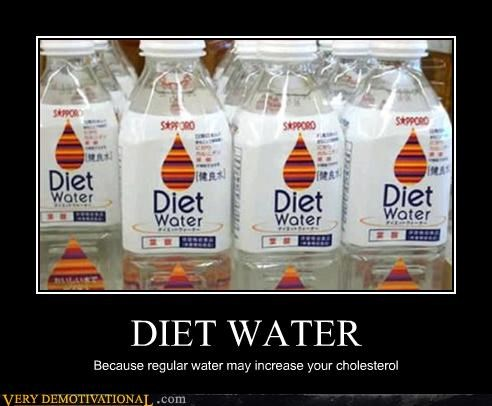 cholesterol,demotivational,diet,healthy,idiots,water