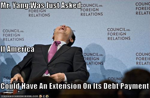 america China debt laughter