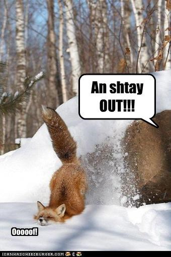 An shtay OUT!!! Ooooof!