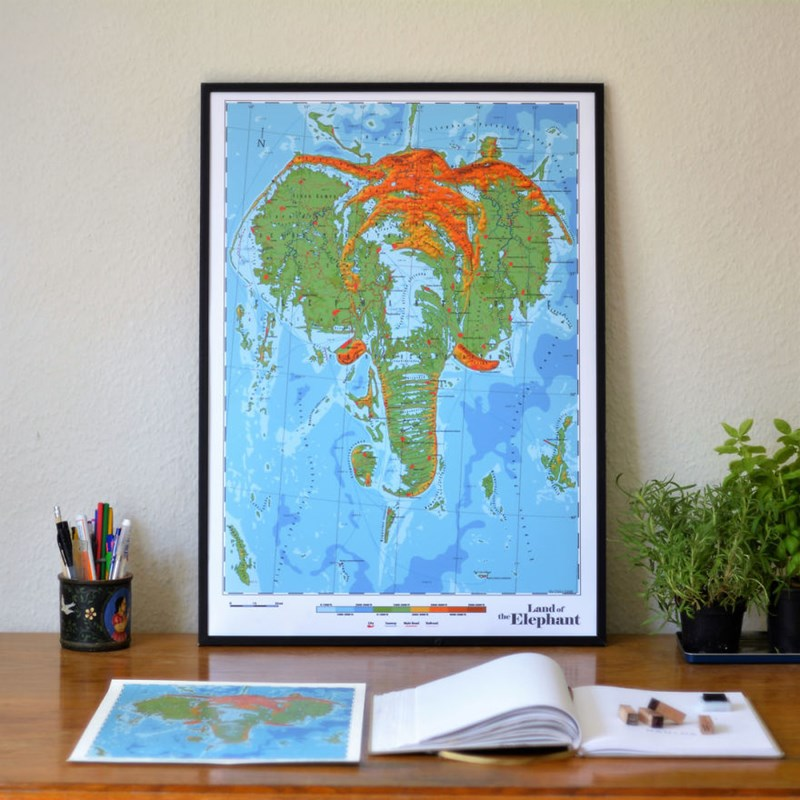 fictional maps of the animal kingdom