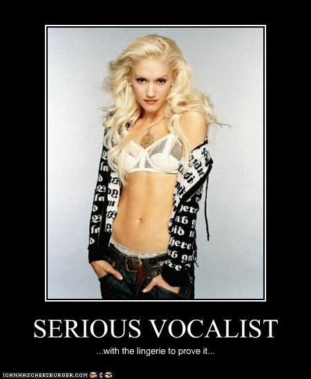 SERIOUS VOCALIST ...with the lingerie to prove it...