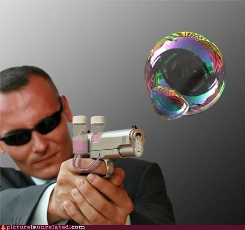 bubble gun,bubbles,g man,guns,wtf