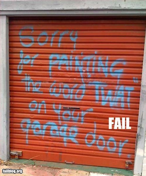 apology door garage graffiti painting - 3302088192