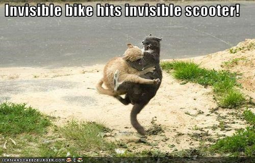 bike crash invisible scooter - 3302849280