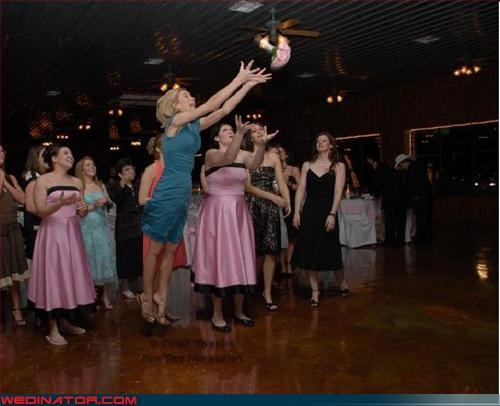all the single ladies bouquet bouquet toss competitive spirit fashion is my passion giant leap for womankind surprise technical difficulties ugly bridesmaid dress wedding party
