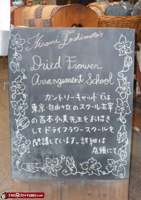 engrish,Flower,school