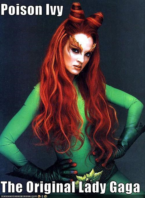 actress batman fashion lady gaga poison ivy uma thurman - 3304067840