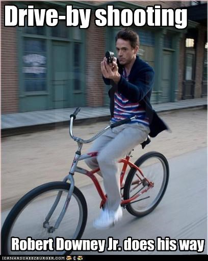 Drive-by shooting Robert Downey Jr. does his way