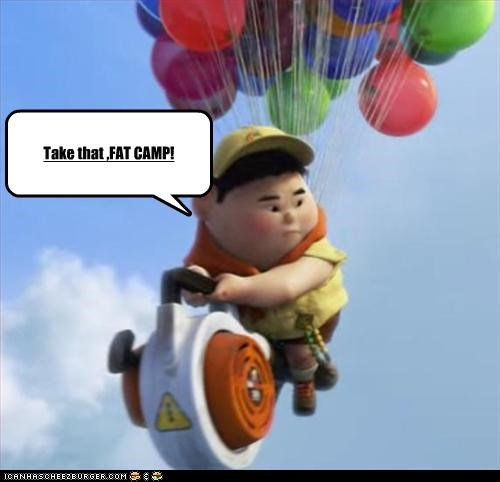animation,fat,obese,pixar,russell from UP