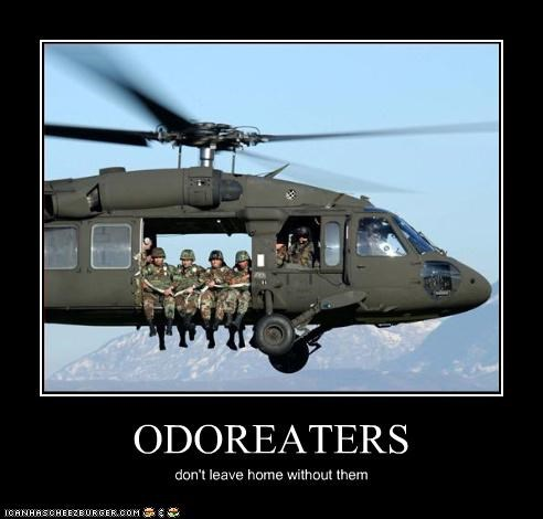 ODOREATERS don't leave home without them