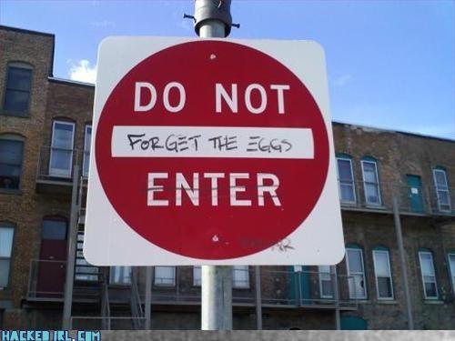 eggs hack sign stop - 3307236096