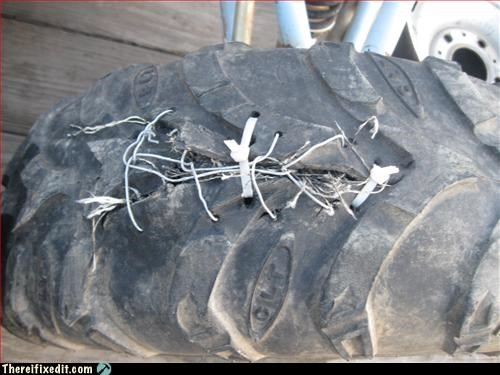 not street legal over stuffed tire unsafe zip tie - 3310098944