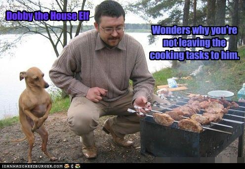 Dobby the House Elf Wonders why you're not leaving the cooking tasks to him.