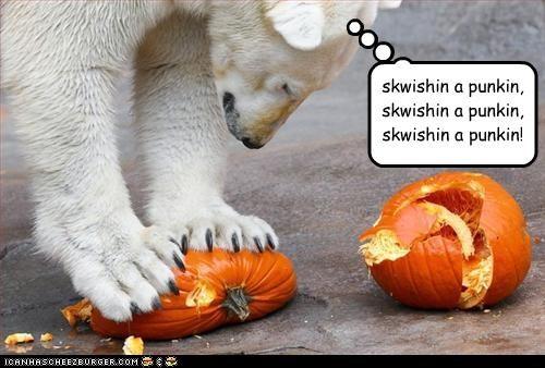 Skwishin a Punkin!
