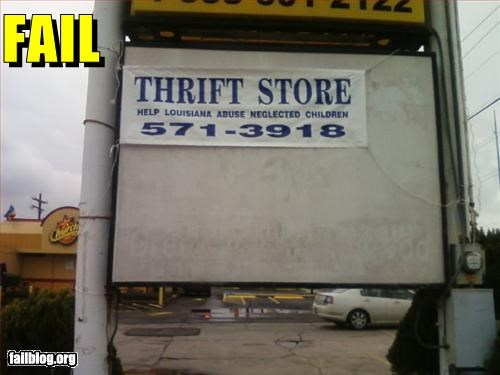 failboat,kids,Sad,slogan,thrift store