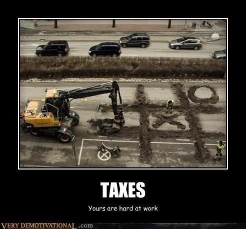 taxes construction tic tac toe