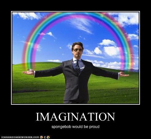 imagination rainbows robert downey jr SpongeBob SquarePants - 3312458752