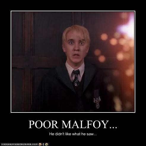POOR MALFOY... He didn't like what he saw...