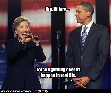 barack obama democrats funny Hillary Clinton lolz pop culture star wars - 3313937664