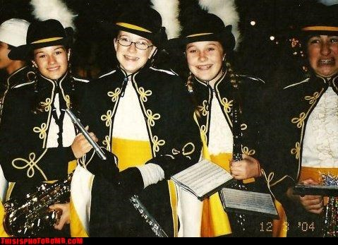 Awkward marching band pretty smile school