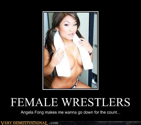 FEMALE WRESTLERS Angela Fong makes me wanna go down for the count...