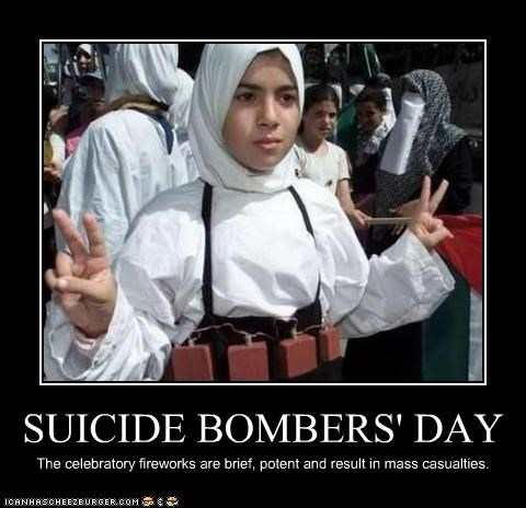 SUICIDE BOMBERS' DAY The celebratory fireworks are brief, potent and result in mass casualties.