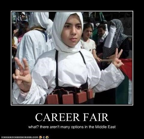 CAREER FAIR what? there aren't many options in the Middle East