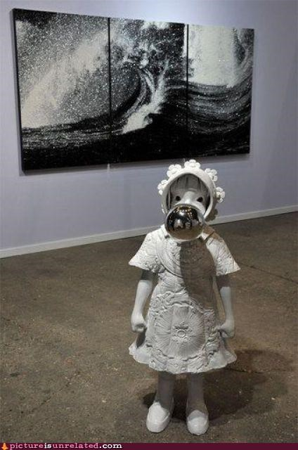 art children mirror face wtf