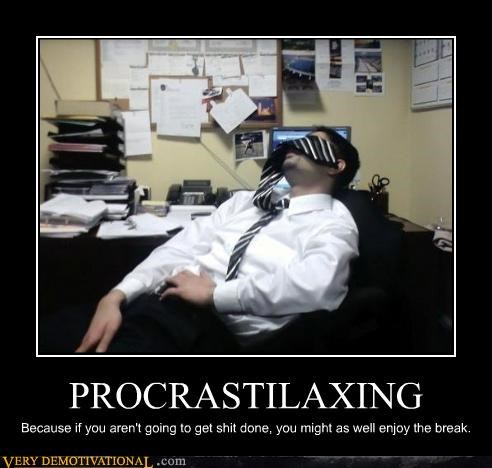 demotivational idiots modern work napping office work Pure Awesome relax - 3319769600