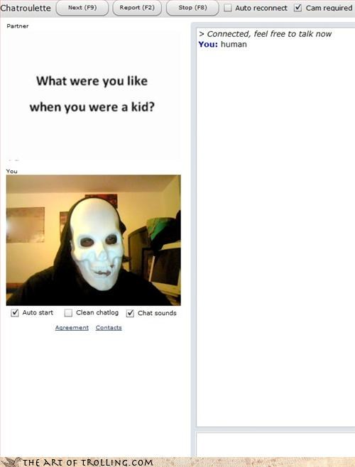 Chat Roulette childhood mask skeleton - 3319932160