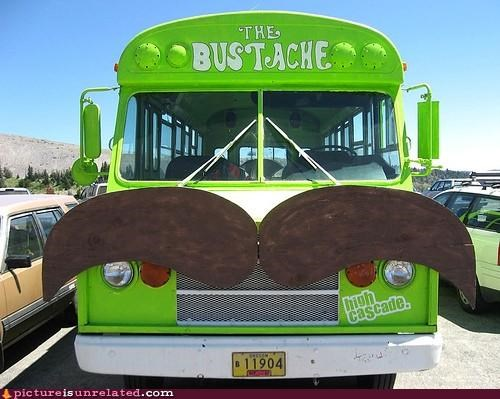 awesome bus mustache vehicle wtf - 3320559360