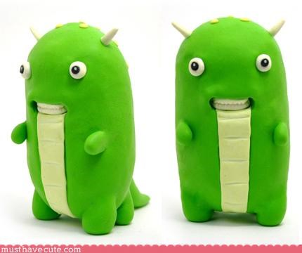blob creature creen figurine formit monster resin sketchy smile toys - 3320573440