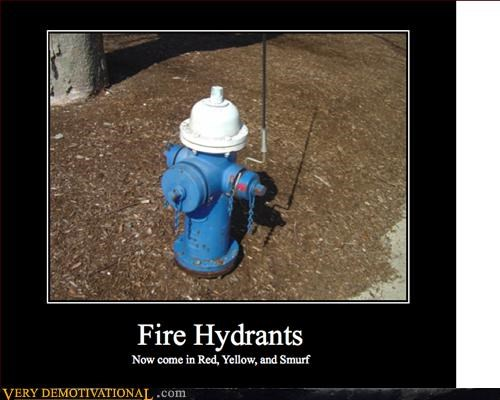 cartoons demotivational fire hydrants hilarious smurf - 3320625664