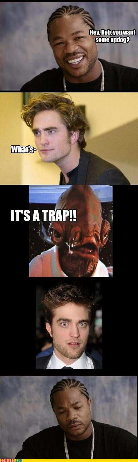 admiral ackbar,edward cullen,From the Movies,its a trap,mon calamari,star wars,twilight,updogg,Xxzibit,xzhibit
