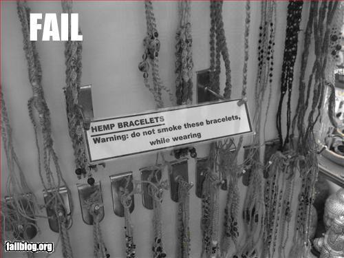 bad idea bracelet drugs failboat hemp smoke - 3321353728
