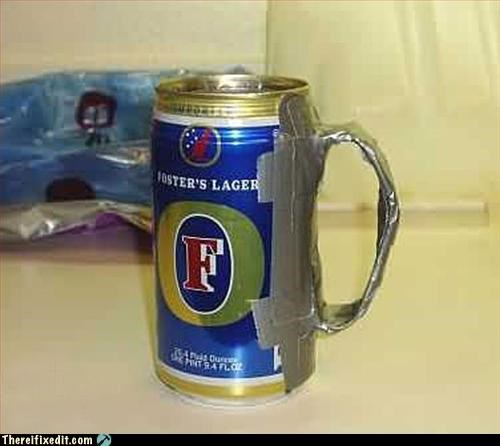 alcohol,beer,duct tape,handle