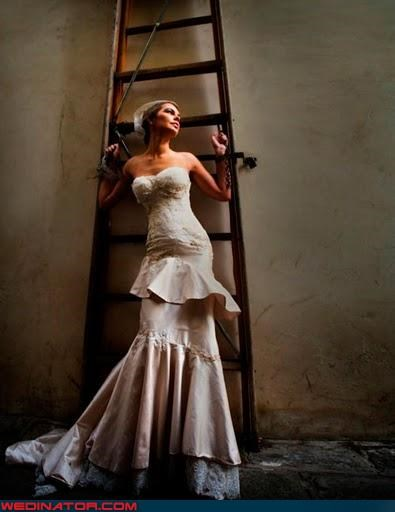 7 years bad luck artsy bride chained down dramatic fashion is my passion random ladder symbolic technical difficulties Wedding Themes - 3323971072