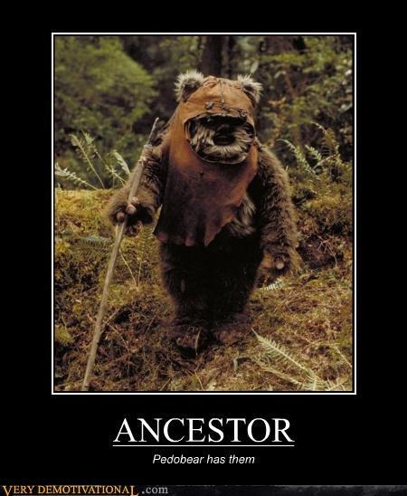 endor ewok pedobear return of the jedi star wars Terrifying wicket - 3324093952